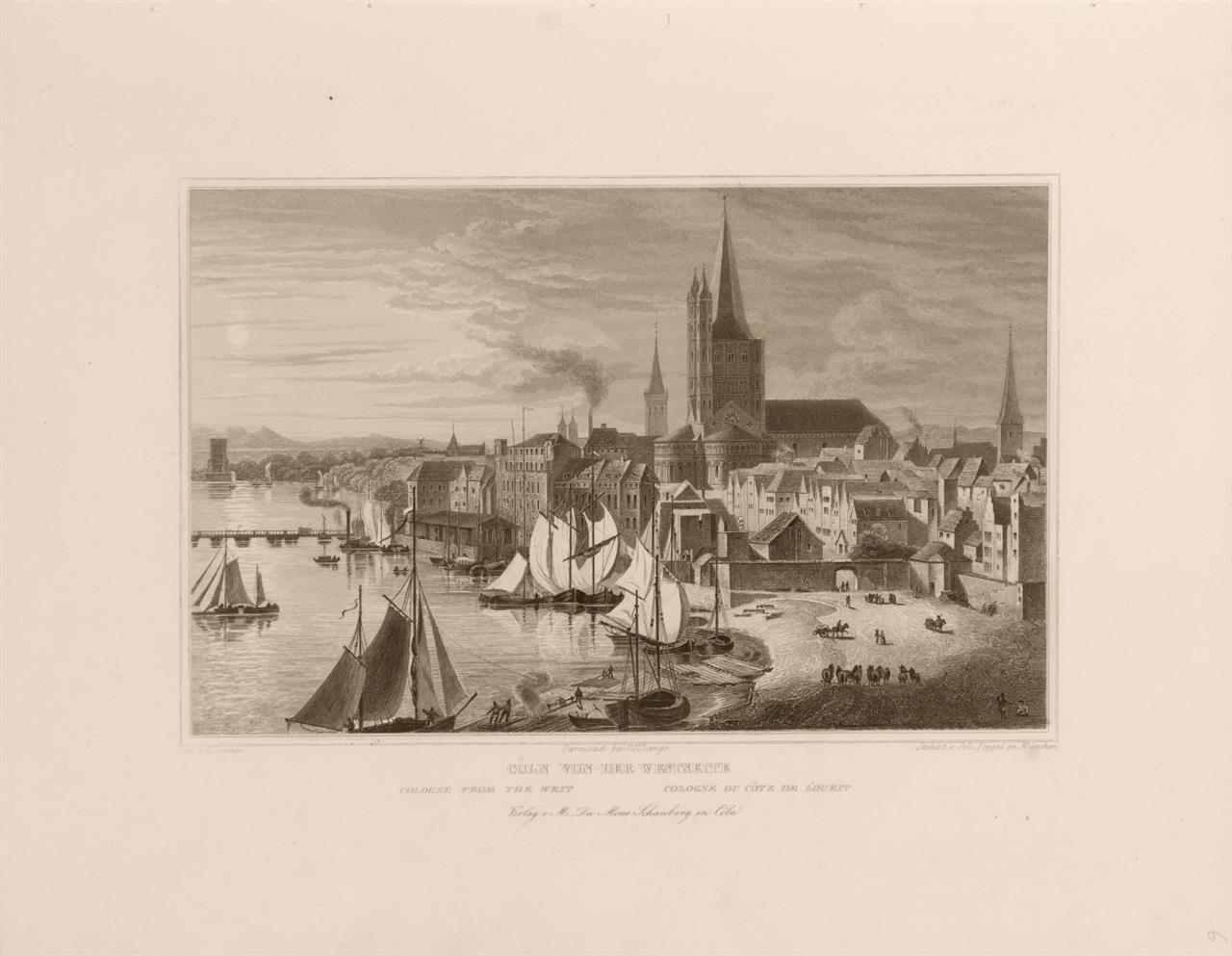 Köln und seine Umgebungen. 22 Stahlstiche. Köln um 1850.