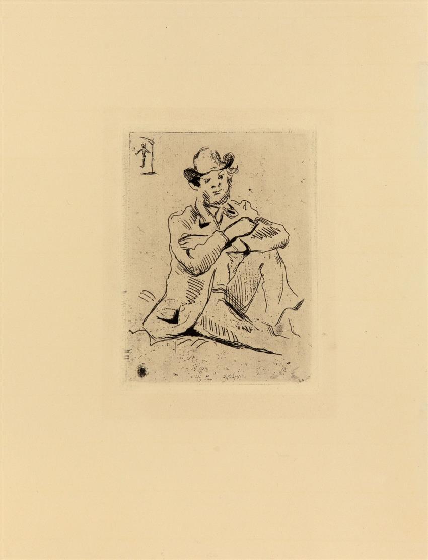 Paul Cézanne. Portrait de peintre Armand Guillaumin au pendu. 1873. Radierung.