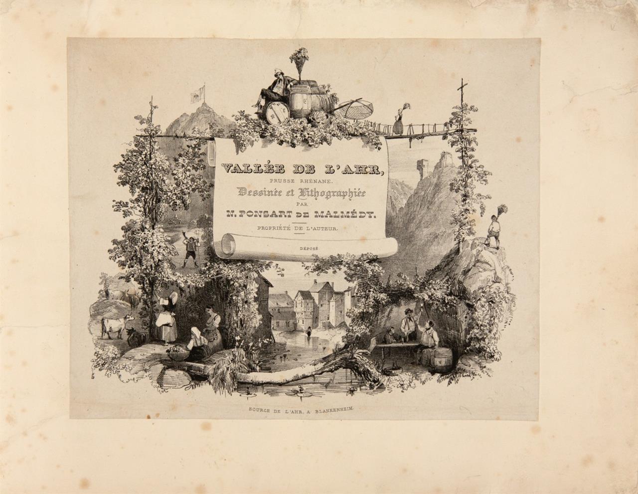 N. Ponsart, Vallée de l'Ahr, Prusse-Rhenane. Brüssel (1838).