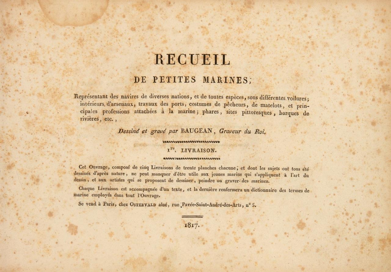 J.-J. Baugean, Recueil de petites marines. 1.-4. Lieferung (v. 5) in 1 Bd. Paris 1817.
