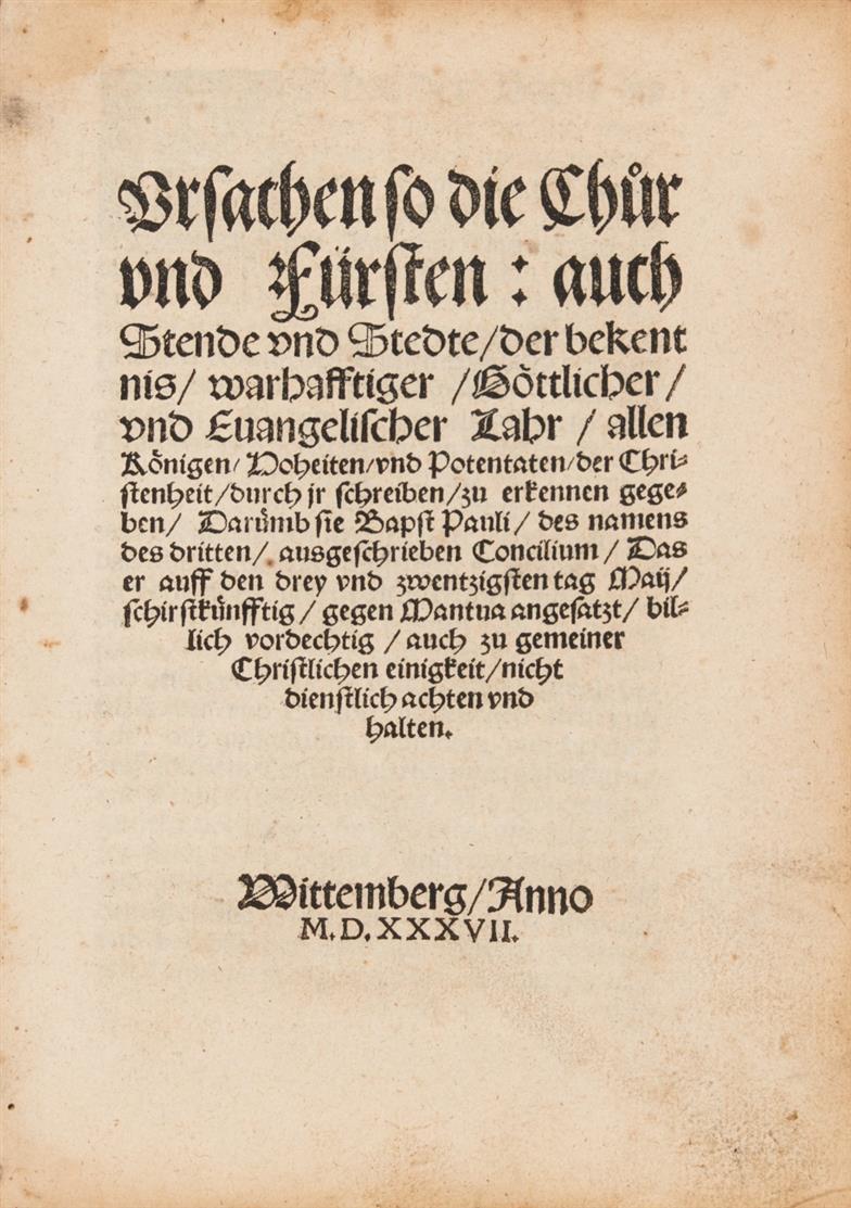 Sammelband von 10 Luther-Schriften. Wittenberg 1537-39.