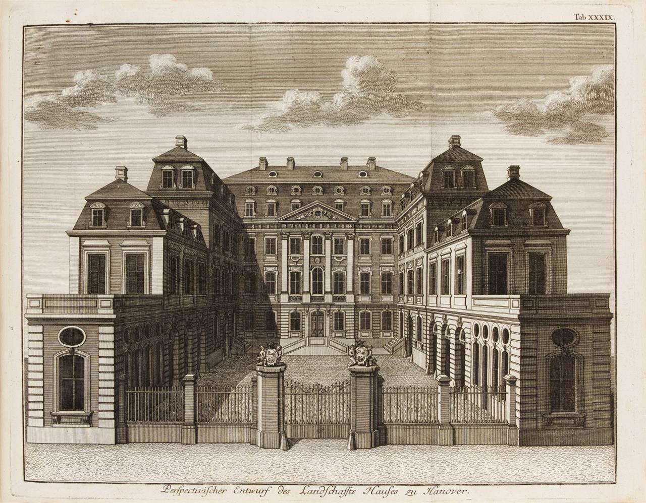 J. F. Penther, Bau-Kunst. Mischaufl. 4 Bde. in 2. Augsburg 1746-64.