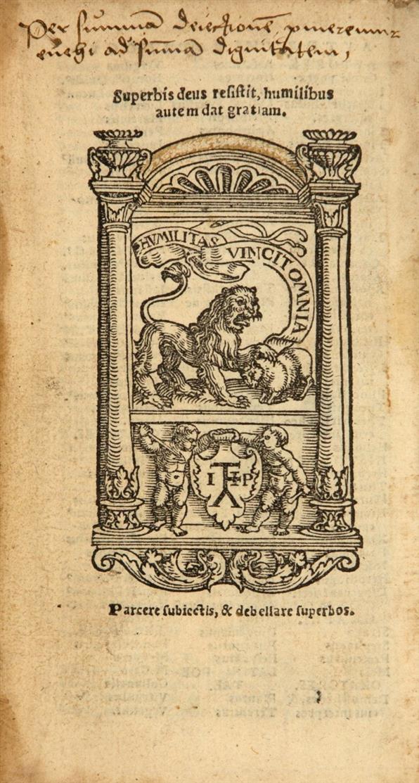 D. Erasmus v. Rotterdam, Adagiorum omnium ... aureum flumen a Theod. Cortehoevio in compendium digestum. Köln 1533.