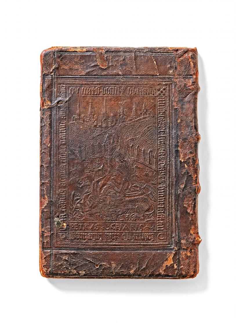 A. Augustinus. - De vera & falsa poenitentia (Fragm.). Köln, J. Gymnich, 1528. - Platteneinband von Pieter de Keysere, Gent.
