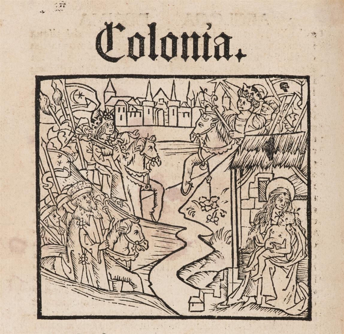P. Vergilius Maro, Bucolica. Komm. H. Torrentinus. / Georgica. Komm. H. Torrentinus. / Opuscula. 3 Bde. in 1. Köln, H. Quentell, 1499.
