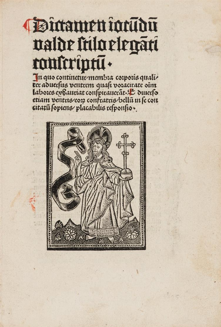 Dialogus linguae et ventris etc. Köln, Ludwig von Renchen, um 1495