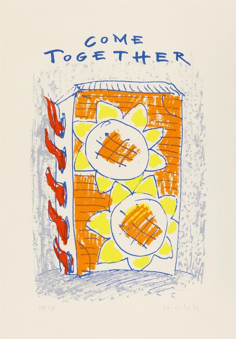 Karl Horst Hödicke. Come together. 1992. Farbserigraphie. Signiert. Ex. 20/50.