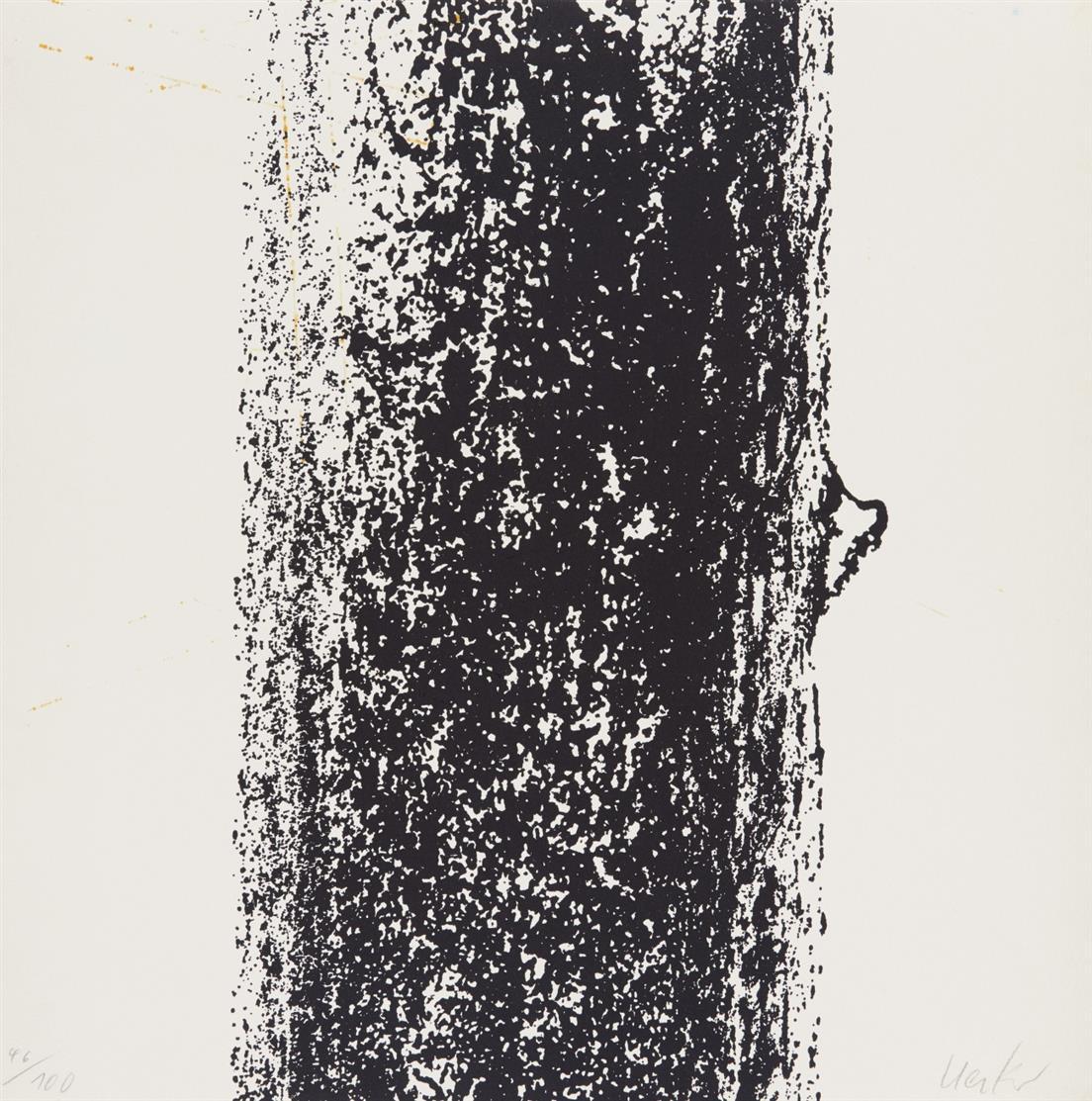 Günther Uecker. Aus: Leibbeschreibung eines Nagels. 1969/70. 4 Blatt Zinkographie und Prägedruck. Signiert. Ex. 45 bzw. 46 /100.