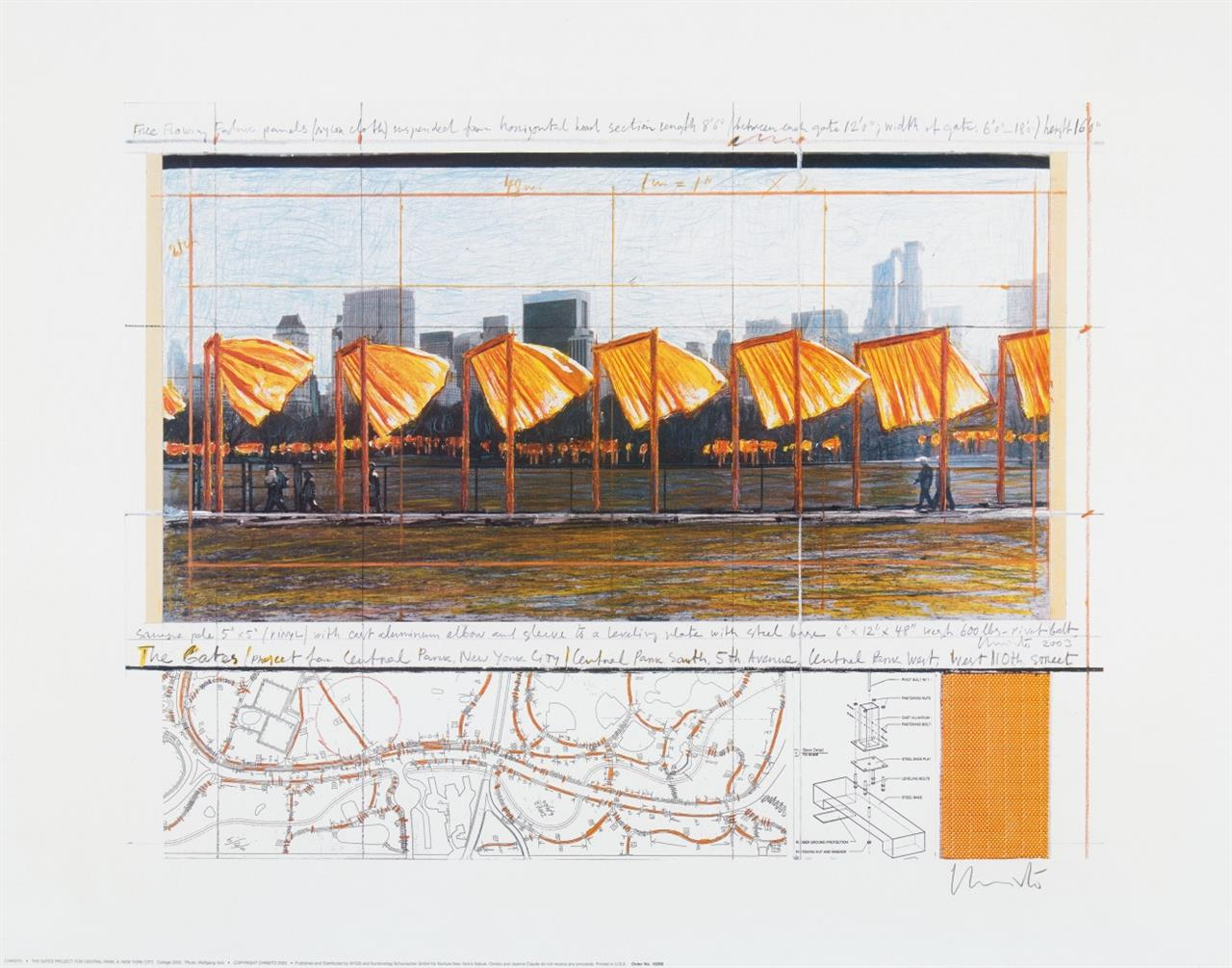 Christo. The Gates Project. 2003. Farboffset. Signiert.