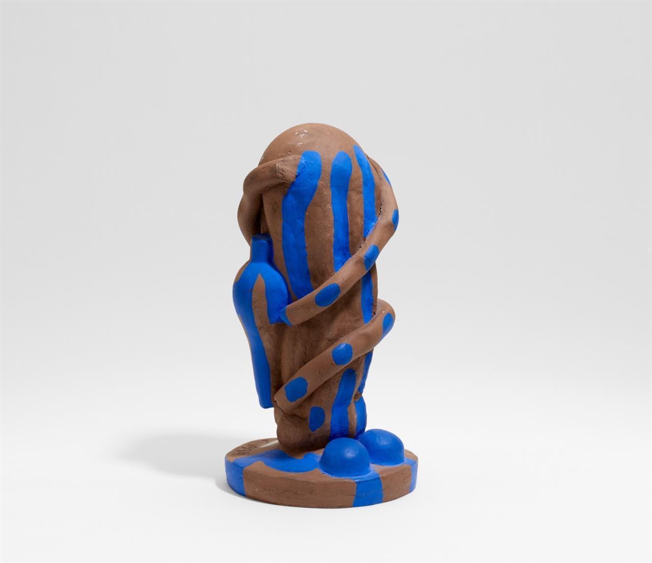 César Bailleux. Ohne Titel. 1994. Keramik, teils farbig gefasst. Signiert.