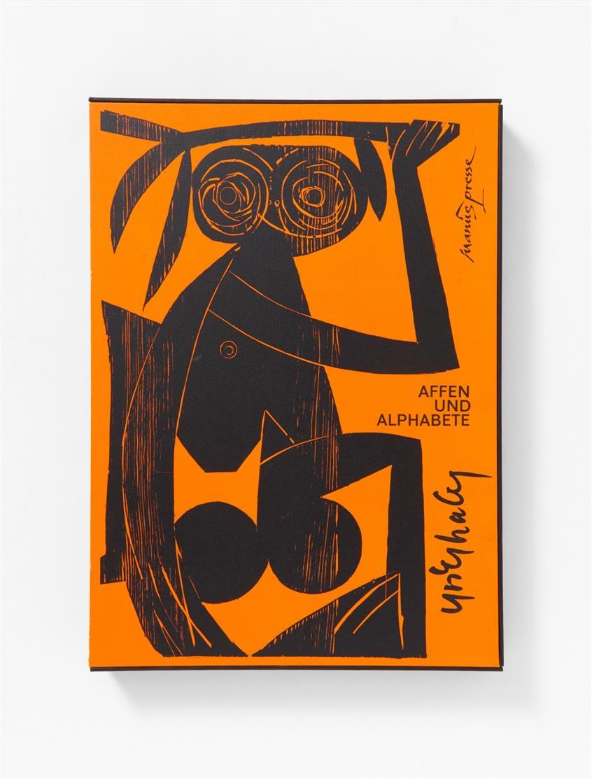 HAP Grieshaber, Affen und Alphabete. Stgt. 1962. - Ex. 293/ 300.