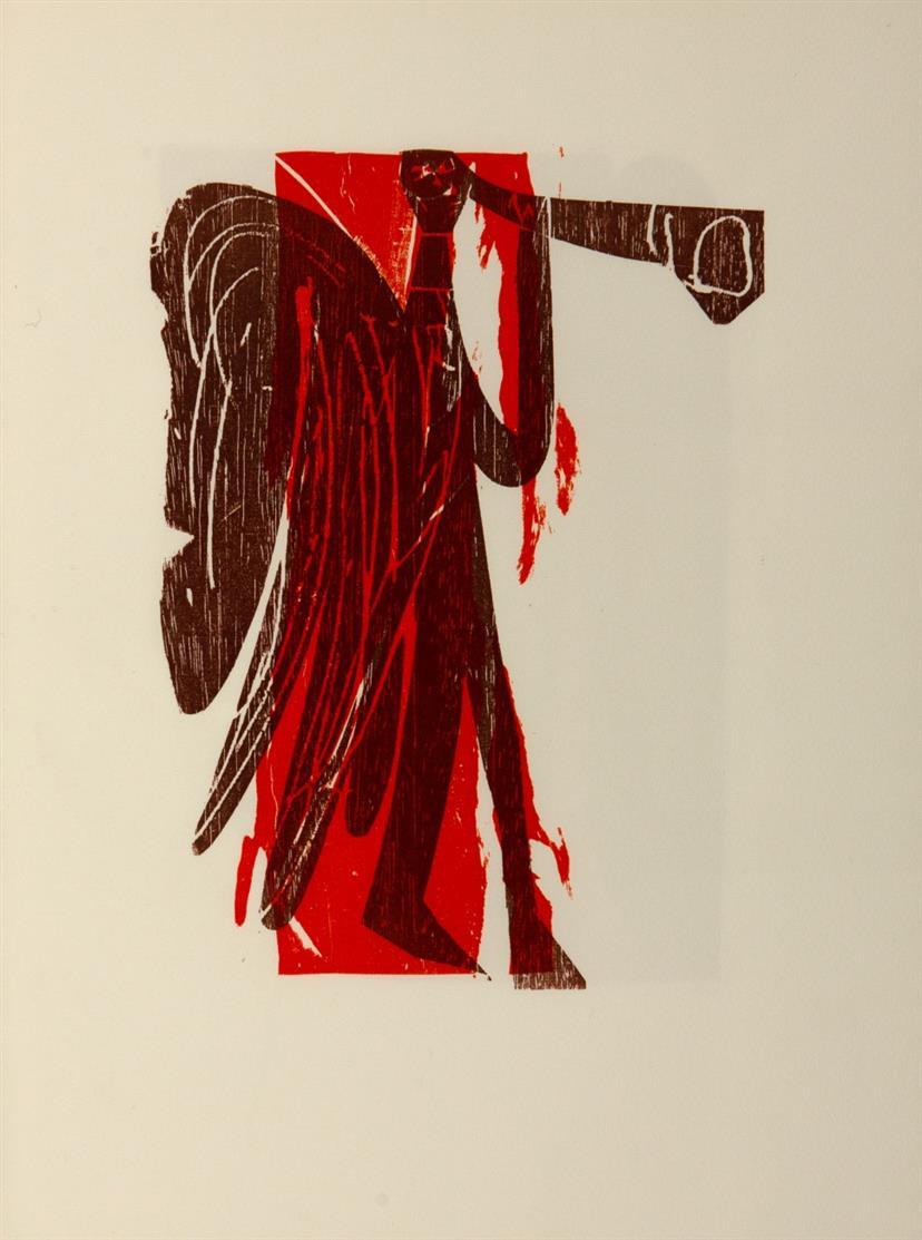 HAP Grieshaber, Sieben Engel. Stgt. 1962. - Ex. 187/300.