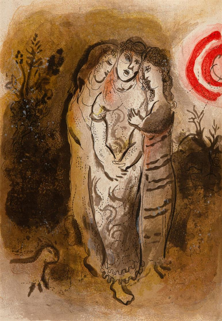 M. Chagall, Dessins pour la Bible (II). Verve vol. X, 37/38. Paris 1960.