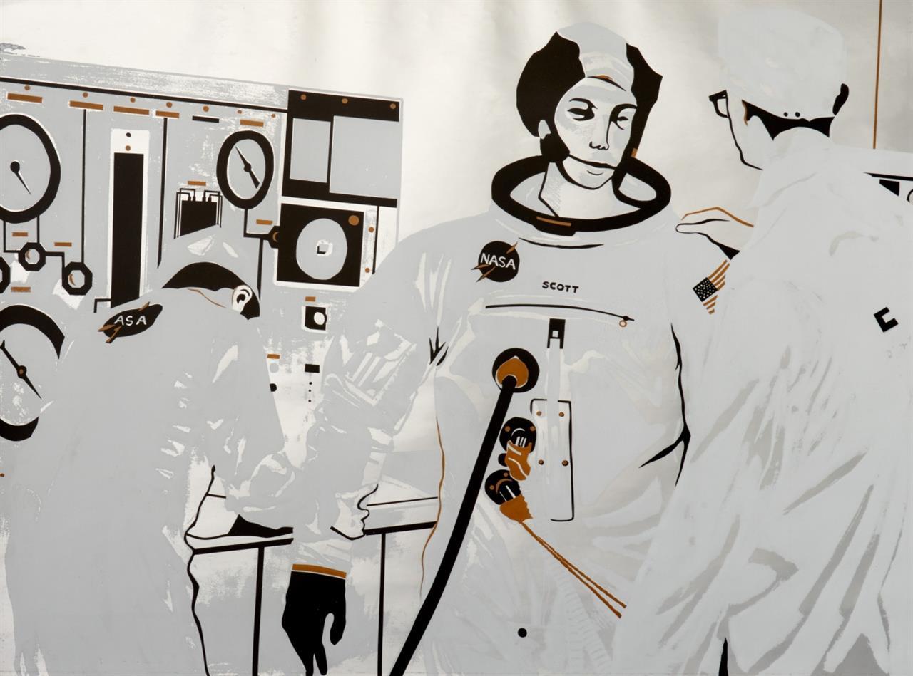 Lowell Nesbitt. Aus: Cape Kennedy. 1969. 2 Blatt Farbserigraphien. 1 Blatt signiert. Ex. XX/XX.