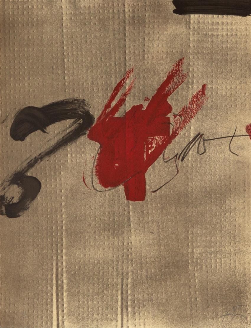 Antoni Tàpies. Exposition Tàpies. 1979. Farblithographie. Signiert. Ex. 121/150. Galfetti/Homs 719.