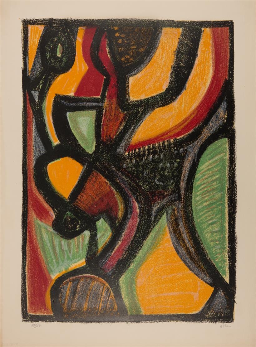 Jean Michel Atlan. Astarté. 1958. Farblithographie. Signiert. Ex. 110/150.