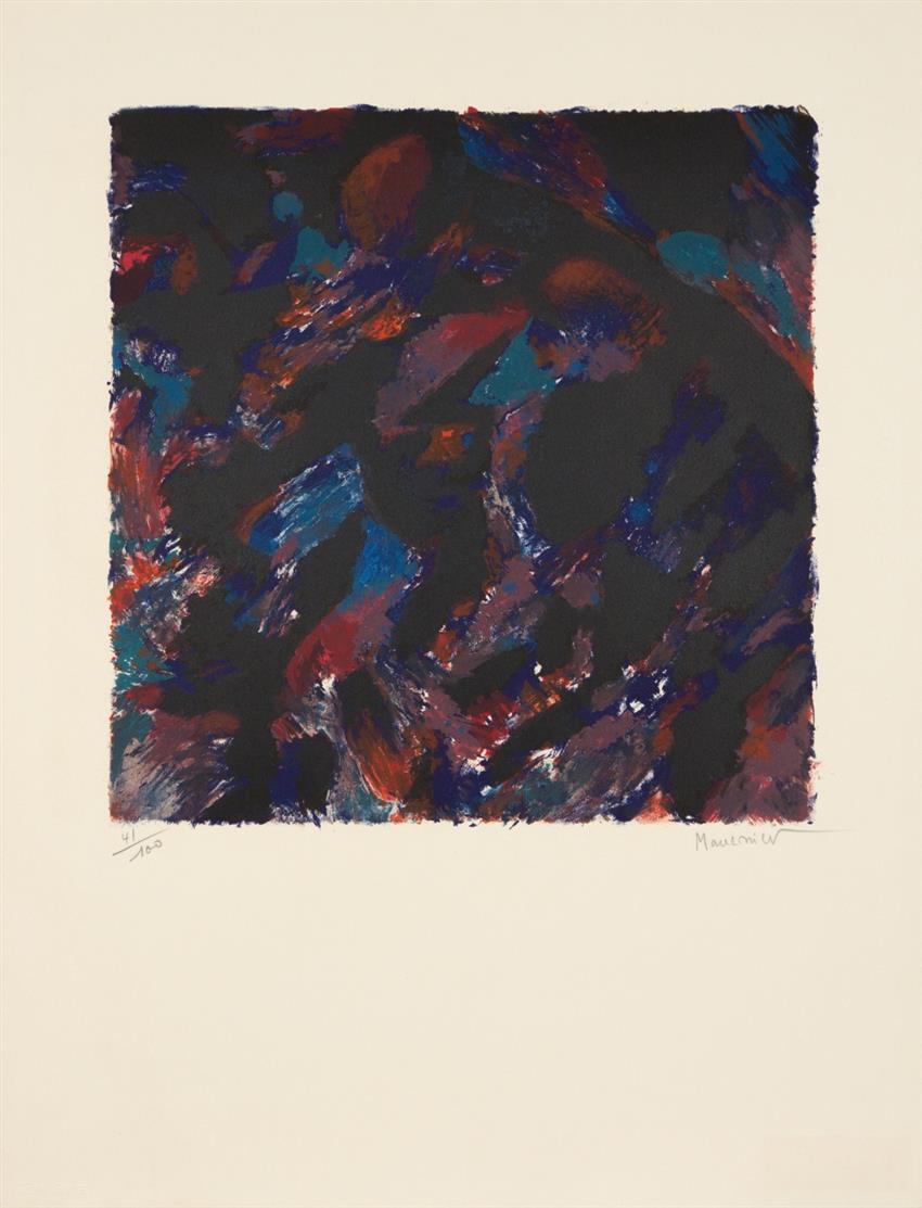 Alfred Manessier. La Crépusculaire / Laudes / Source. 3 Blatt Farblithographien. Jeweils signiert. Ex. 41/100, 45/125 bzw. Épreuve d'artiste.