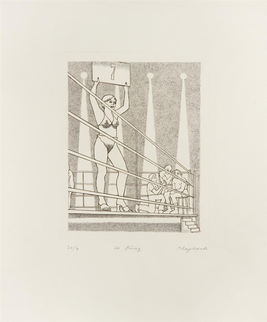 Konrad Klapheck. Der Ring. 2004. Radierung. Signiert. Ex. 30/8. Wessolowski 48.