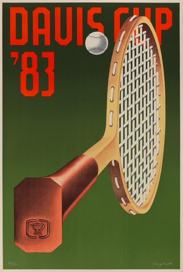 Konrad Klapheck. Davis Cup 83 (Poster). 1983. Farblithographie. Ex. 64/150. Wessolowski 54.