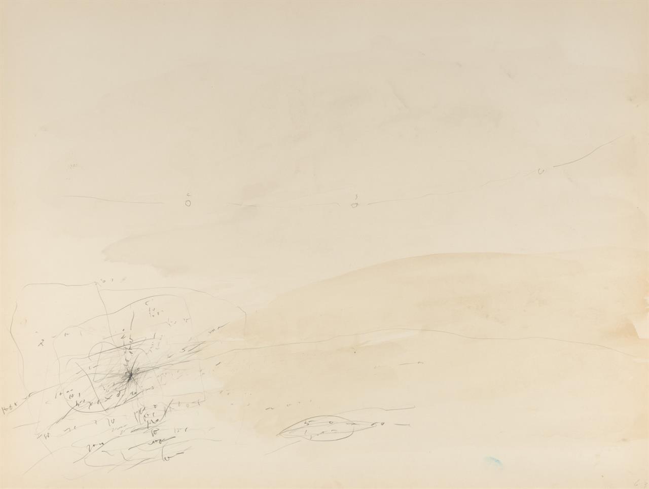 Karl Bohrmann. Ohne Titel. 1963. Bleistift und Aquarell.