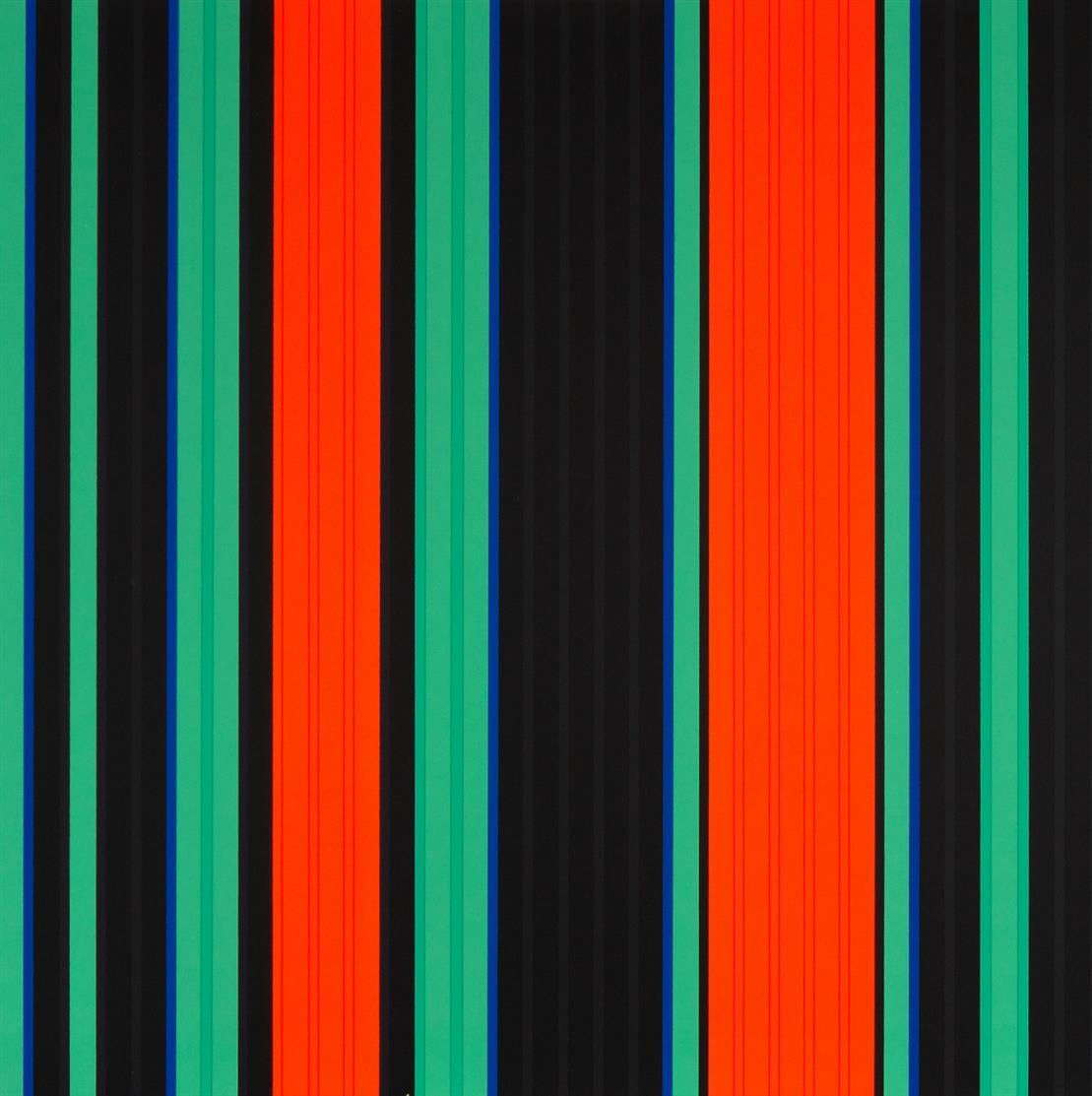 Günter Fruhtrunk. Parameter. (1969). 4 Exemplare. 4 Blatt Farbserigraphien. Jeweils verso signiert. Ex. 68, 95, 103 bzw. 104 von 150.
