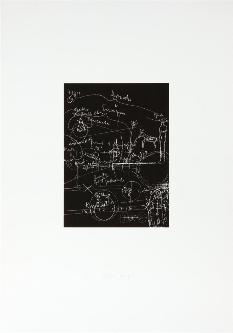 Joseph Beuys. Tafel I, II, III. 1980. 3 Blatt Siebdrucke. Je signiert. Schellmann 326-328.