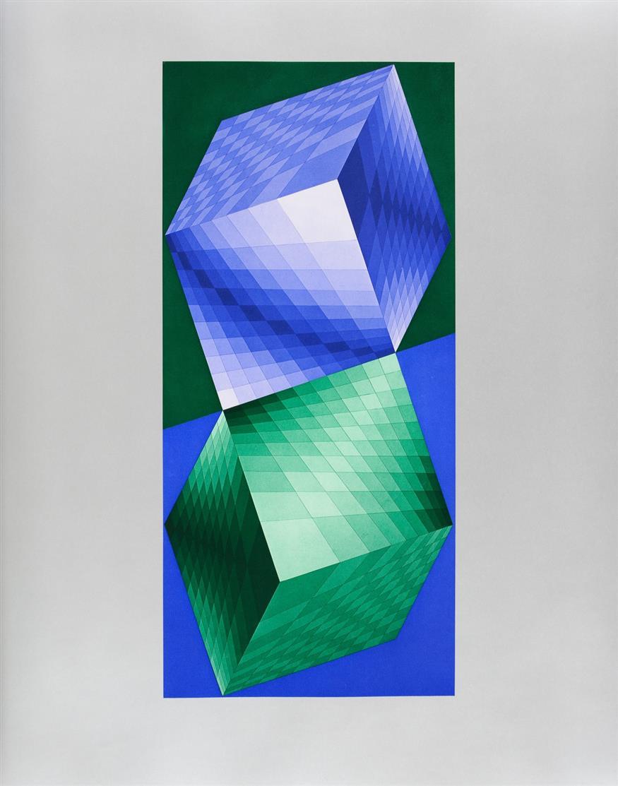 V. Vasarely, Antworten an Vasarely. 1974. Ex. 121/340.