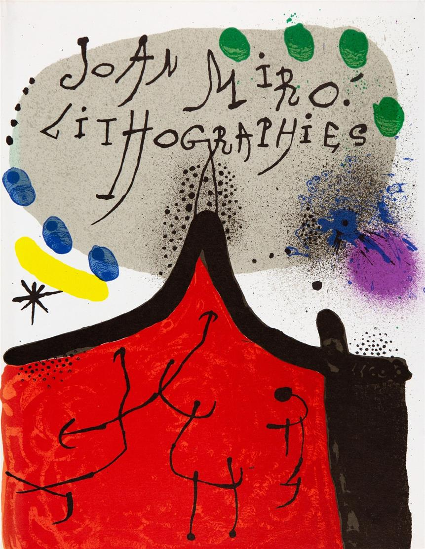 F. Mourlot u.a.  / Joan Miró, Lithographe I-V. 5 Bände.1972-92.