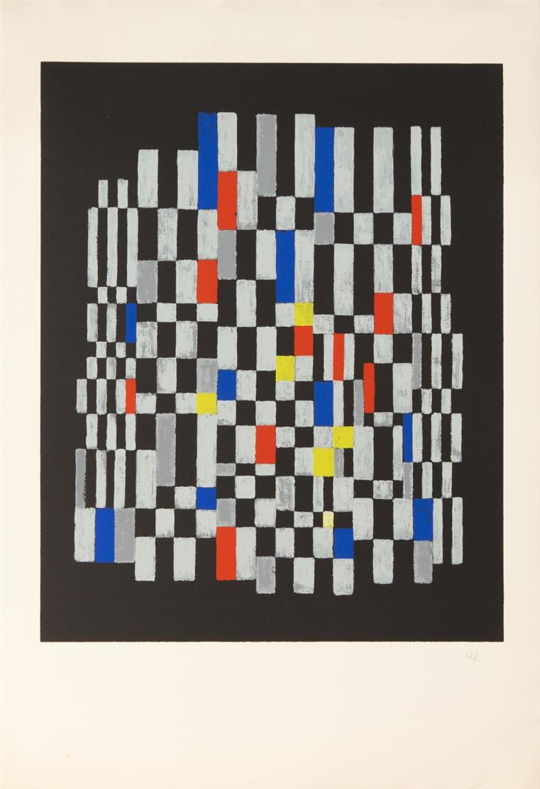 Adolf Richard Fleischmann. Opus 601. 1967. Farbserigraphie. Monogrammiert. Ex. 94/150.