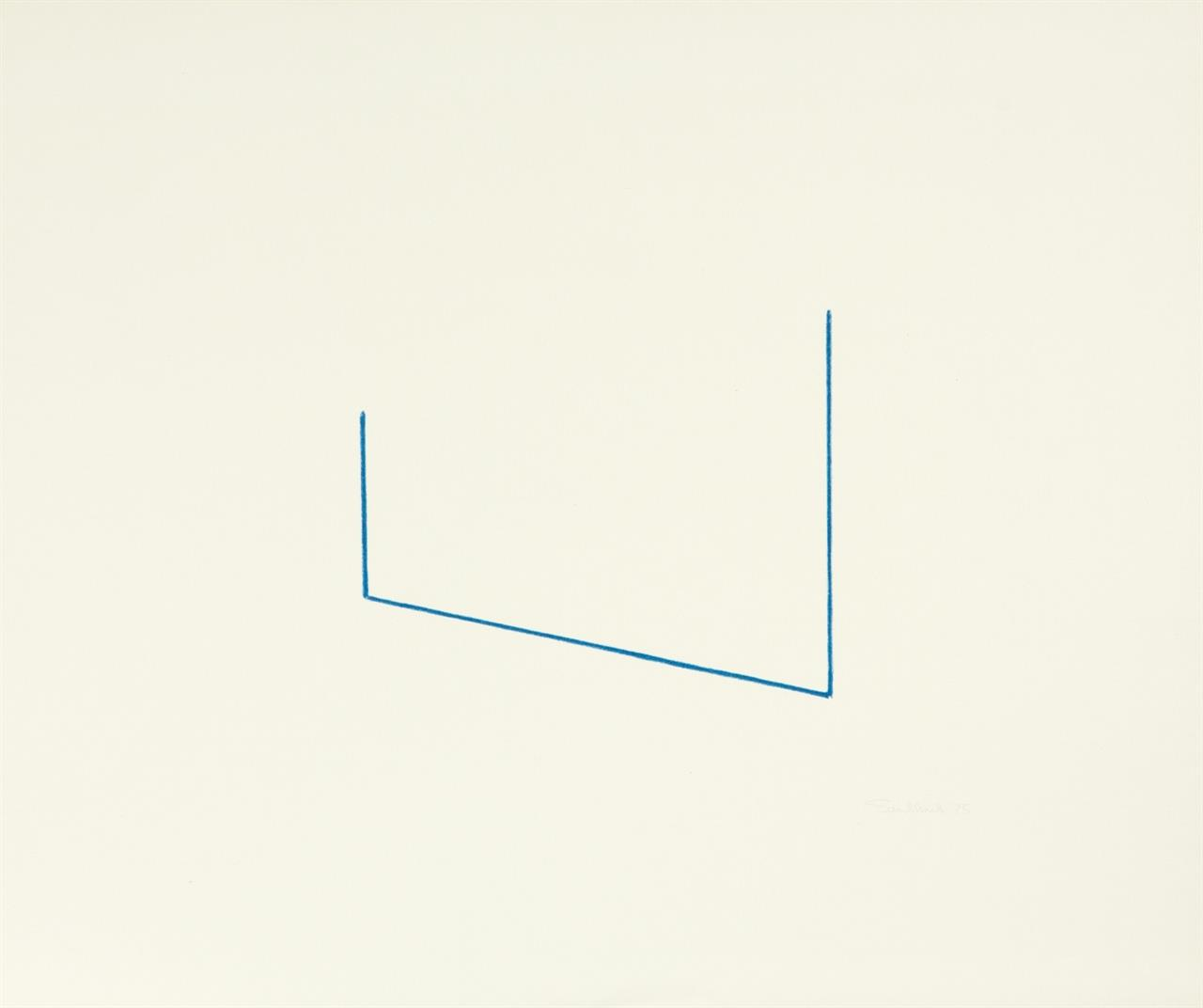 Fred Sandback. Lithographie 5/16 & 6/17. 1975 (1976). 2 Blatt Lithographien. Je signiert.