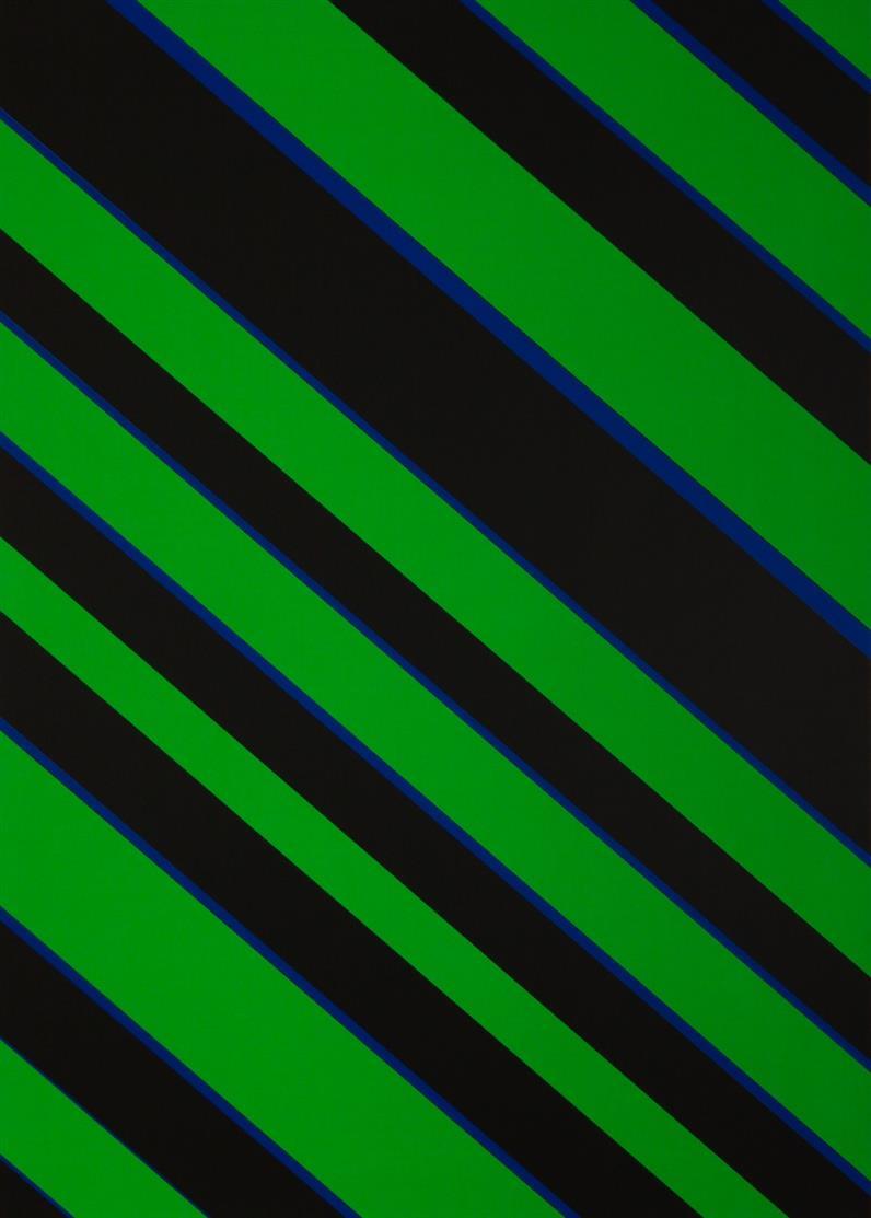 Günter Fruhtrunk. Fruhtrunk. 1974. Mappe mit 2 Farbserigraphien. Verso signiert. Ex. 45/50.