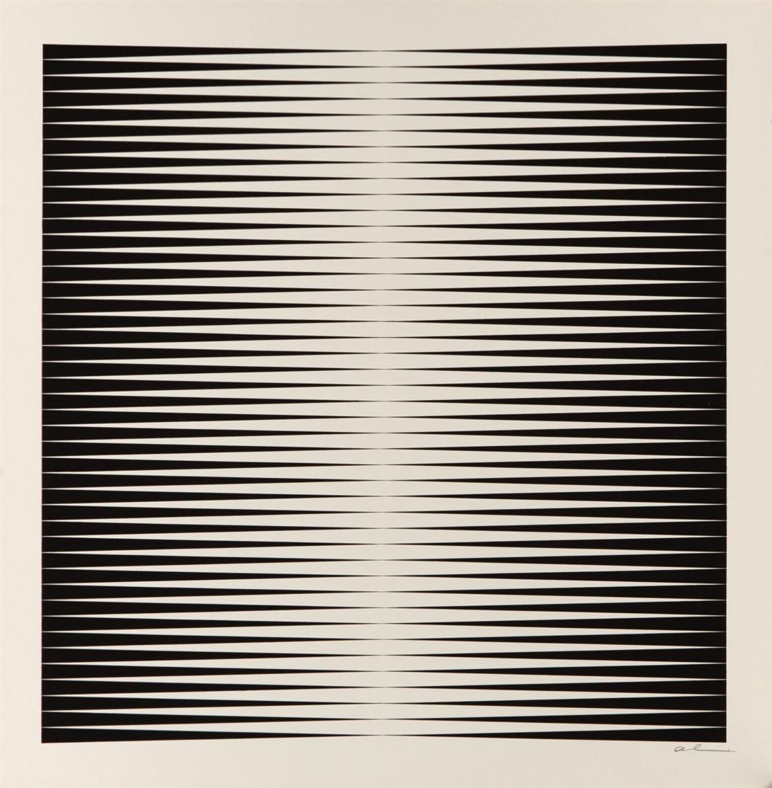 Getulio Alviani. Designe Ia - IIIa, Ib - IIIb. 1971. 6 Blatt Farbserigraphien. Jeweils signiert.