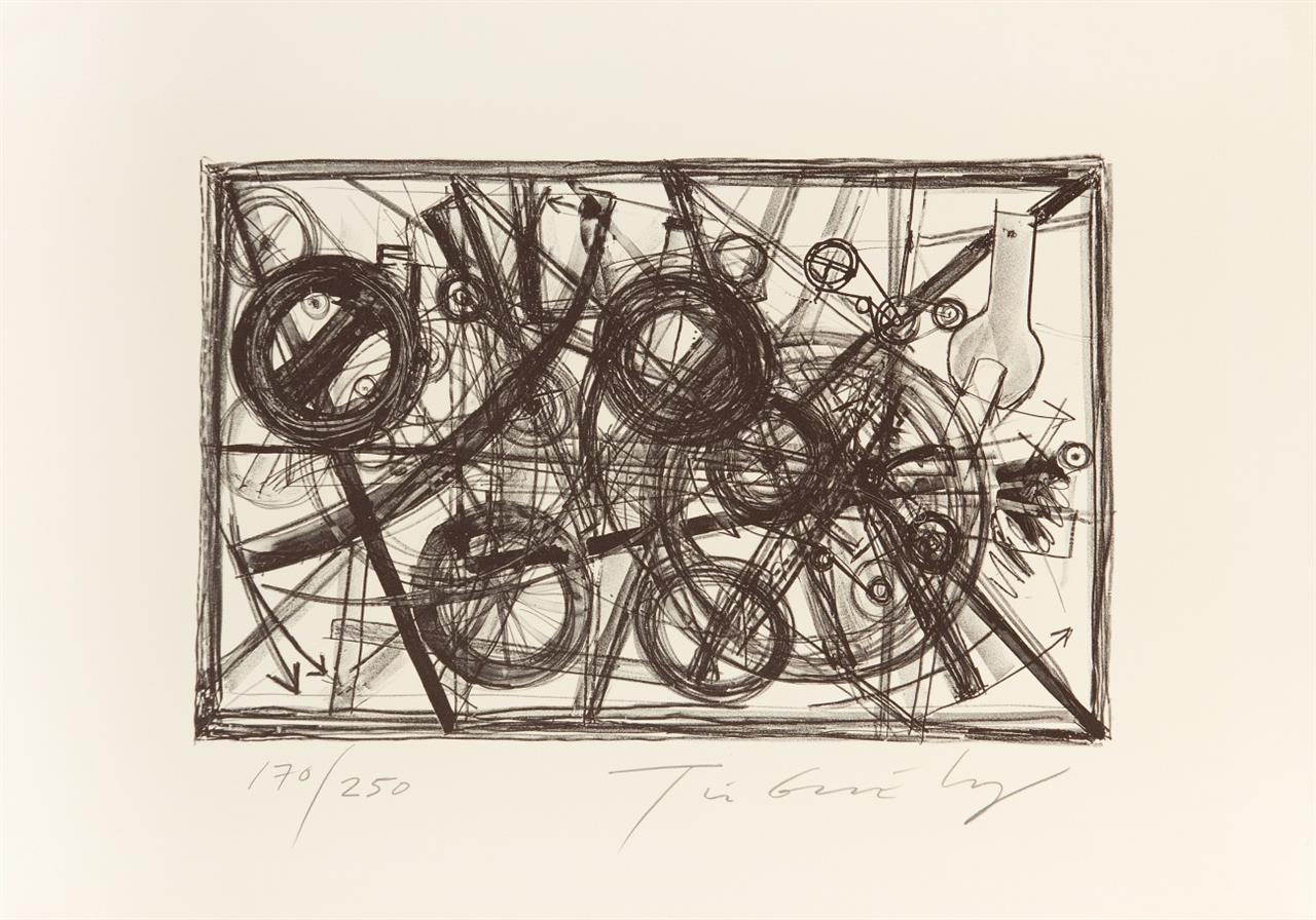 Jean Tinguely. Maschinenräder. 1972. Lithographie. Signiert. Ex. 170/250.