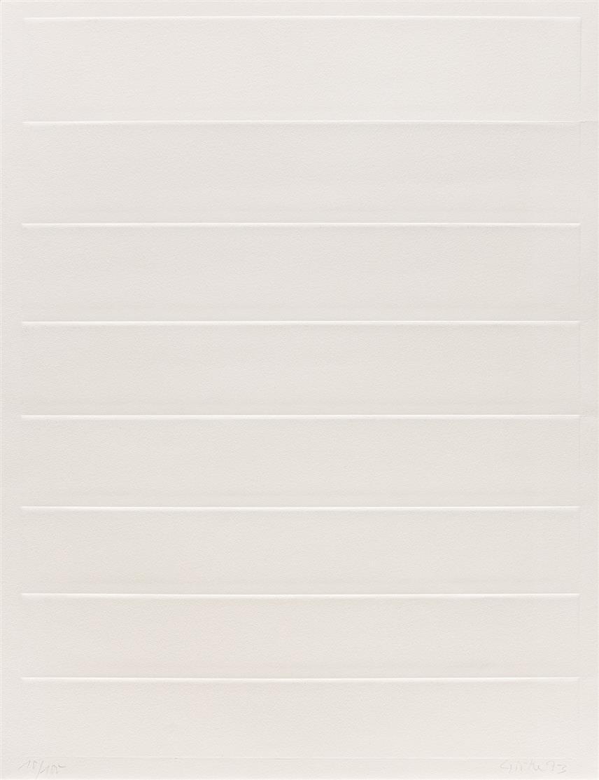 Raimund Girke. Ohne Titel. 1973. Prägedruck. Signiert. Ex. 10/100.