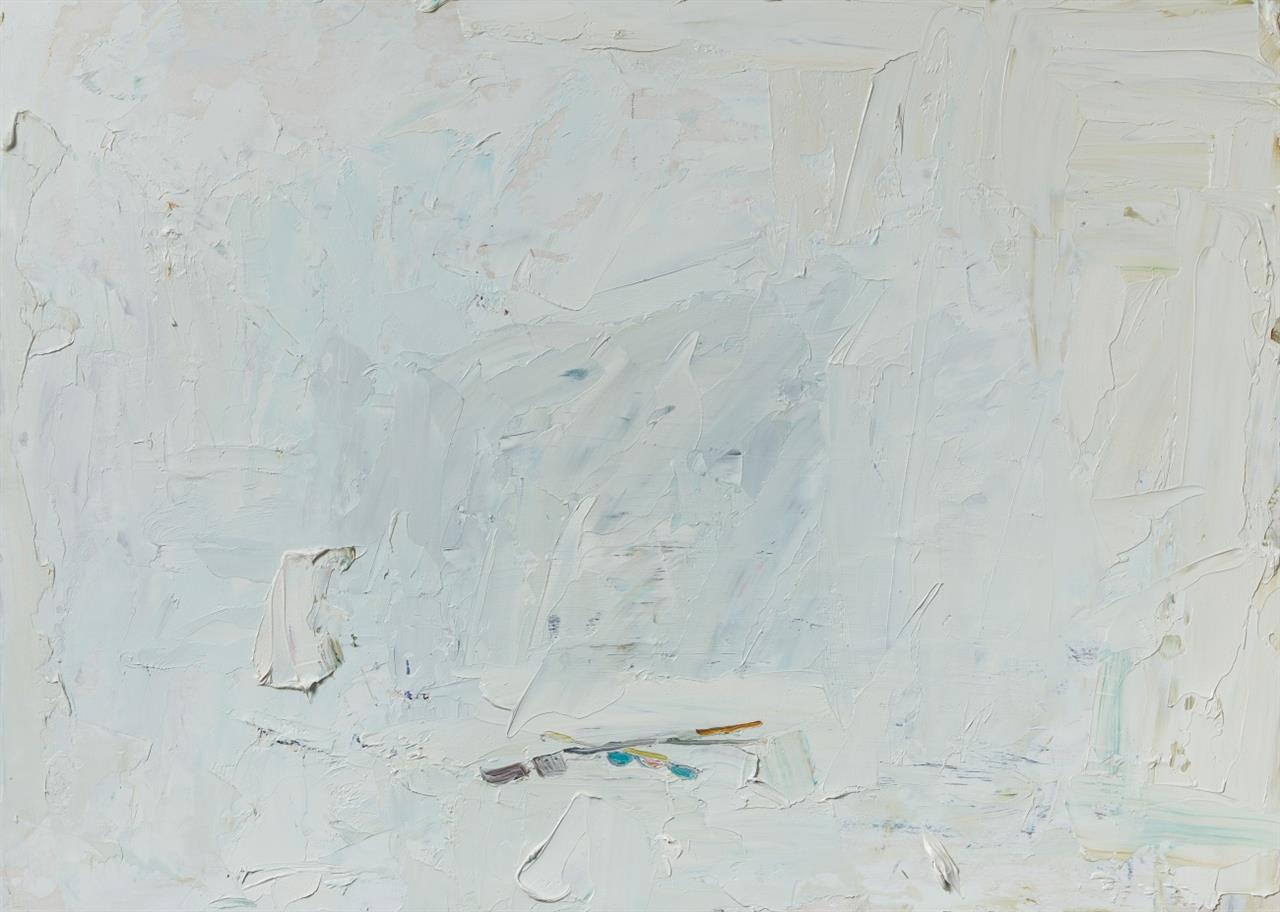 Norbert Prangenberg. Für Caspar. 2011. Öl auf Masonit. Verso signiert.