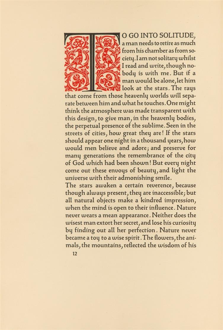 R. W. Emerson, Nature. Mchn., Bremer Presse, 1929. OrPgt. - Ex. 41/150.