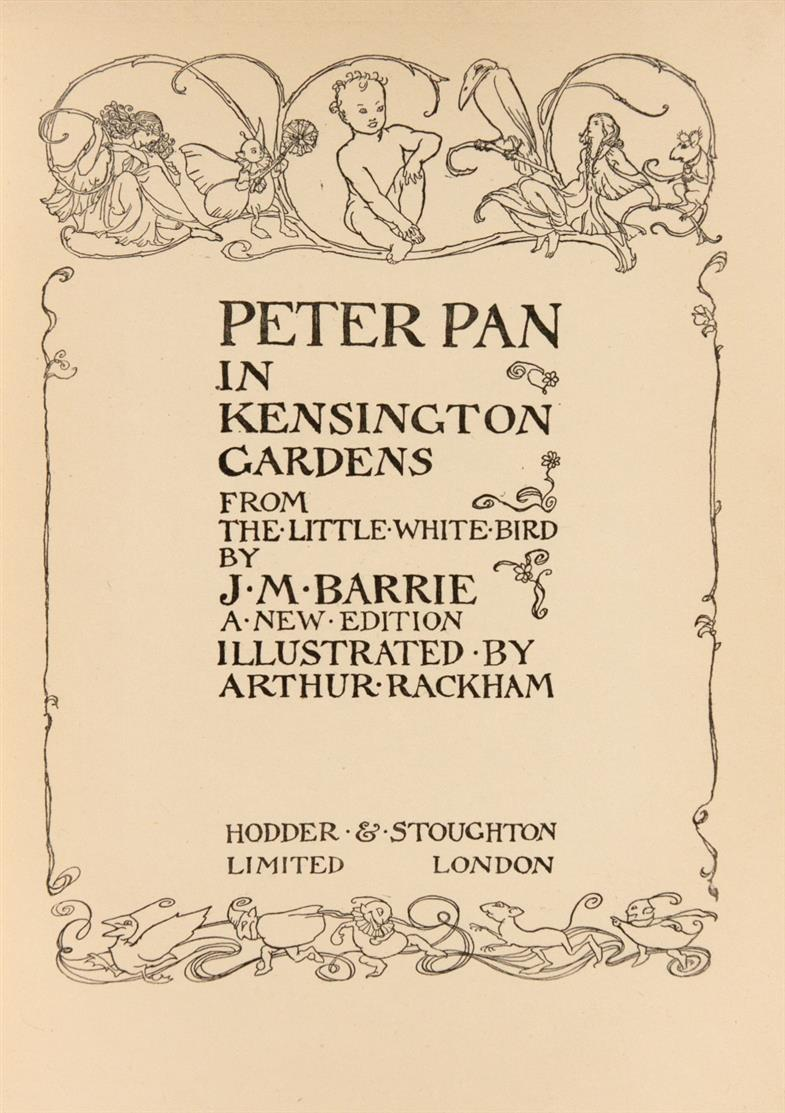 A. Rackham, Book of Pictures. London 1913. - Dazu: Barrie, Peter Pan ..., o.J. / Goldsmith, Vicar ... 1929.