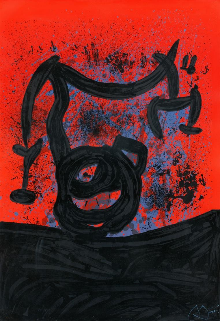 Joan Miró. Equilibre Sur L'Horizon. 1969. Farblithographie. Signiert. Ex. 14/75. Maeght 598.