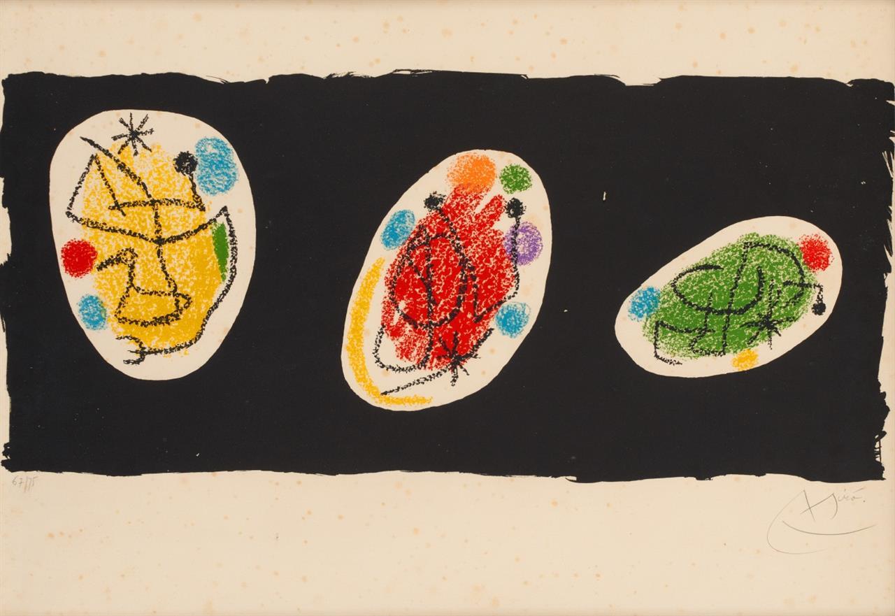 Joan Miró. Für XXe Siècle, No.31. Dezember 1968. Farblithographie. Signiert. Ex. 67/75. Maeght 583.