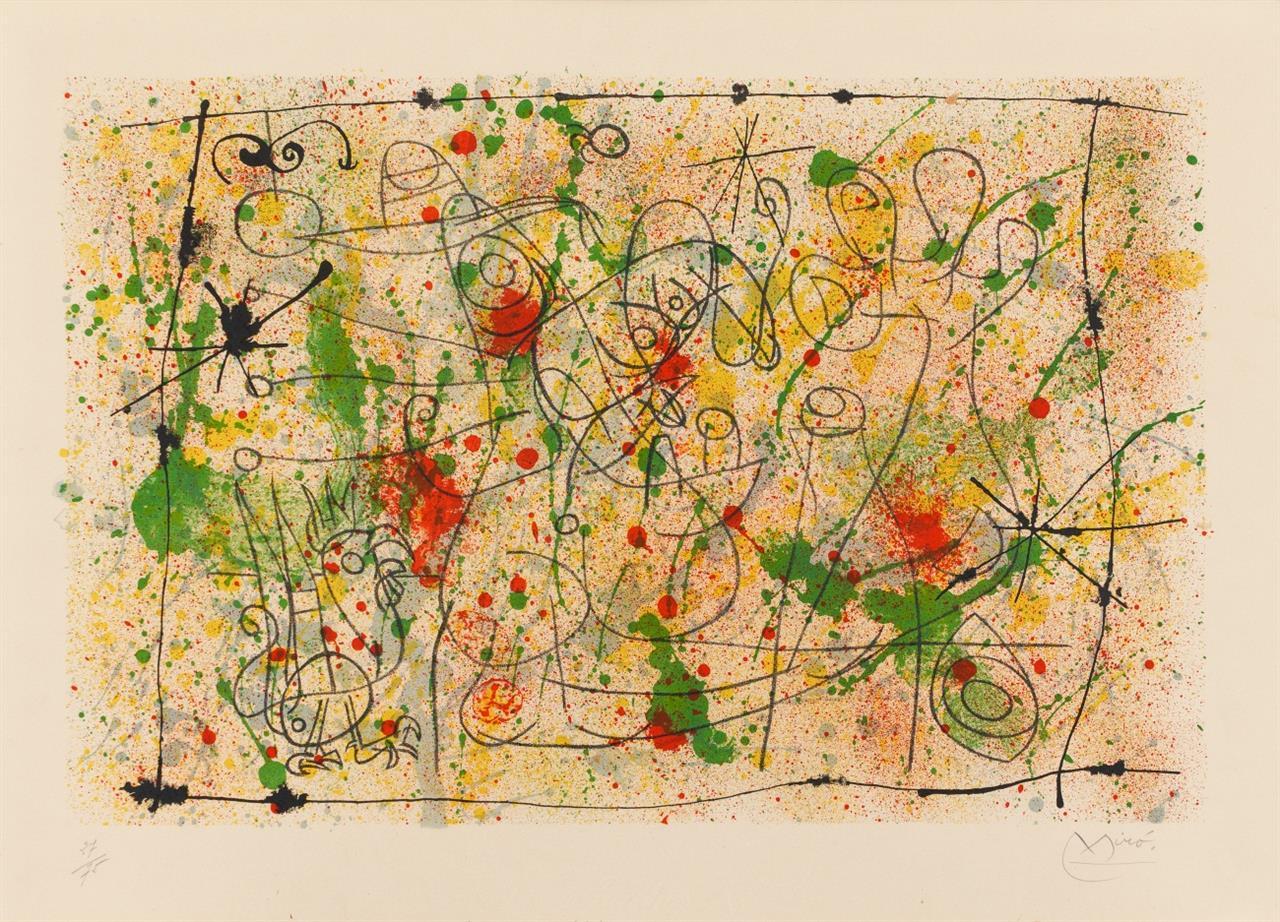 Joan Miró. Aus: Ubu Roi. 1966. Farblithographie. Signiert. Ex. 27/75. Maeght 462.