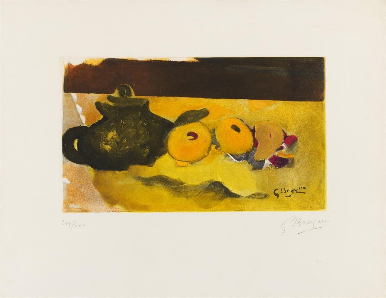 Georges Braque. La nappe jaune. Farbradierung. Signiert. Ex. 269/300. Vallier S. 295; Maeght 1038.