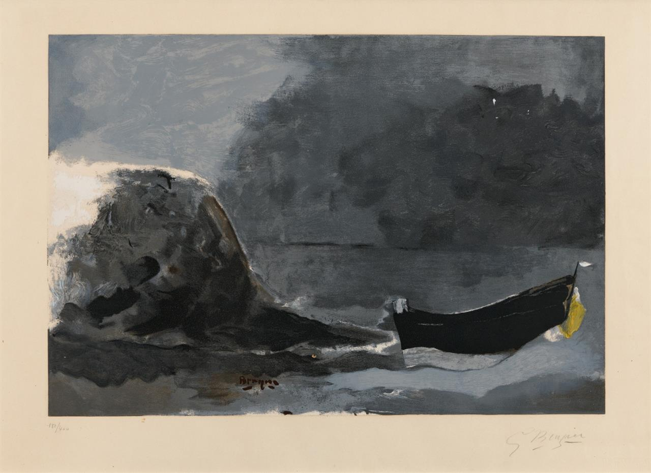 Georges Braque. Marine noir. Farblithographie. Signiert. Ex. 180/400. Vallier S. 296, Maeght 1044e.
