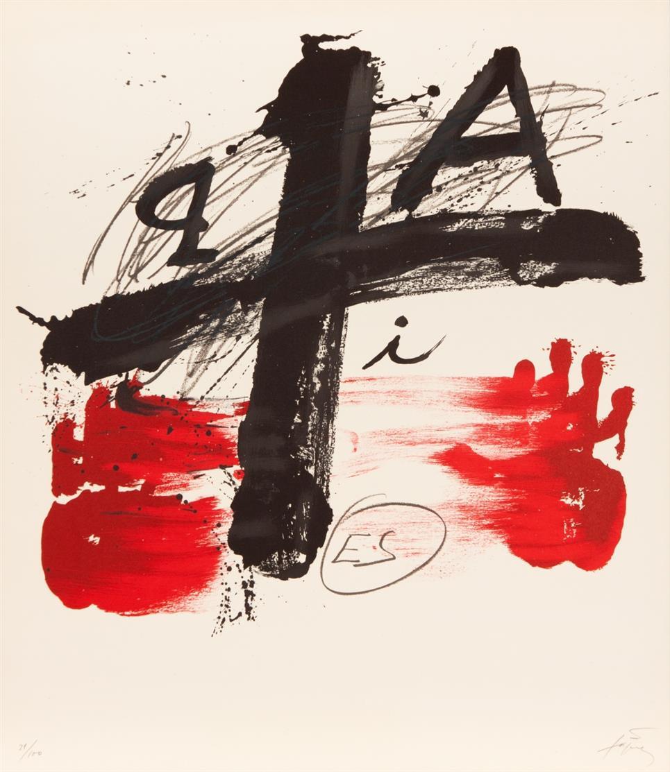 Antoni Tàpies. Ohne Titel. 1974. Farblithographie. Signiert. Ex. 21/100. Galfetti 396.