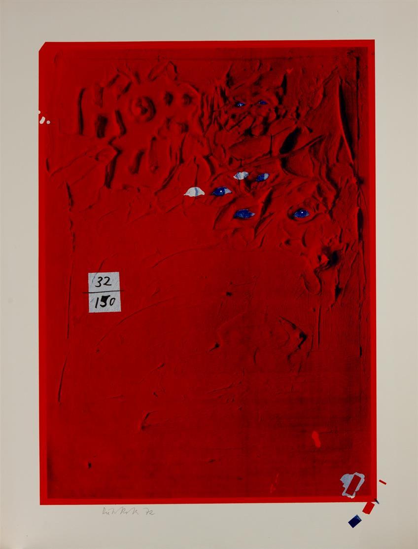 Dieter Roth. Zuhören. 1972. Farbserigraphie. Signiert. Ex. 32/150. Dobke 256.