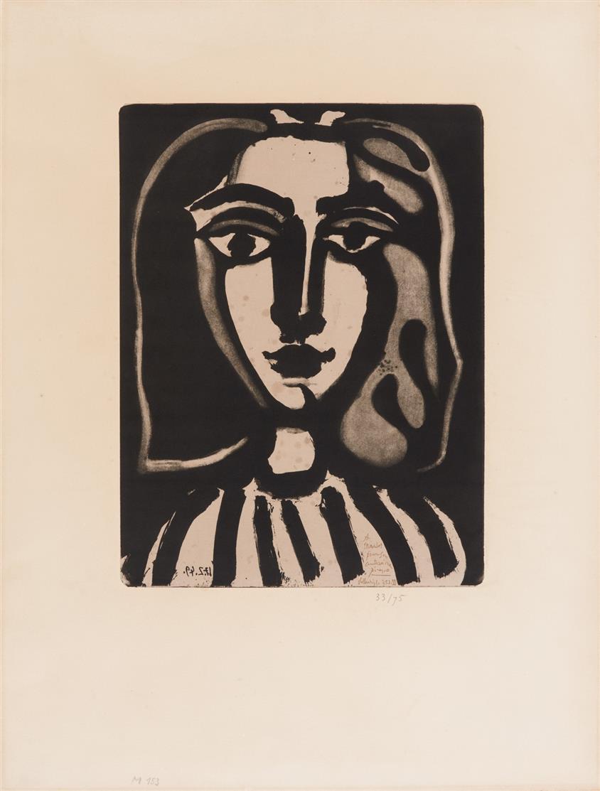 Pablo Picasso. Jeune Femme. 1949. Lithographie. Ed. Mourlot. Ex. 33/75.