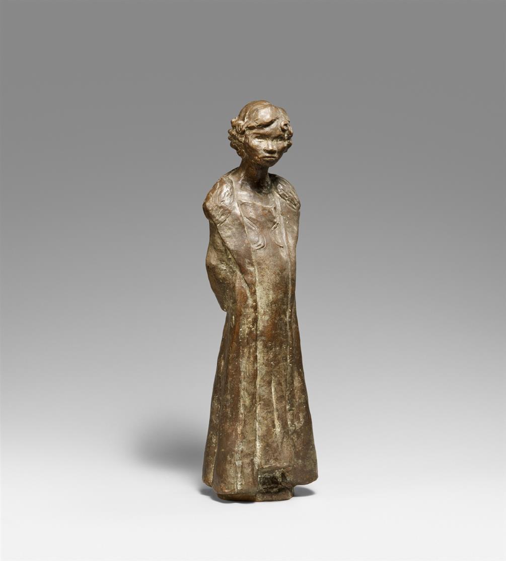 Otto Pankok. Hilda, Hände auf dem Rücken. 1932. Bronze. Monogrammiert. Zimmermann 39.