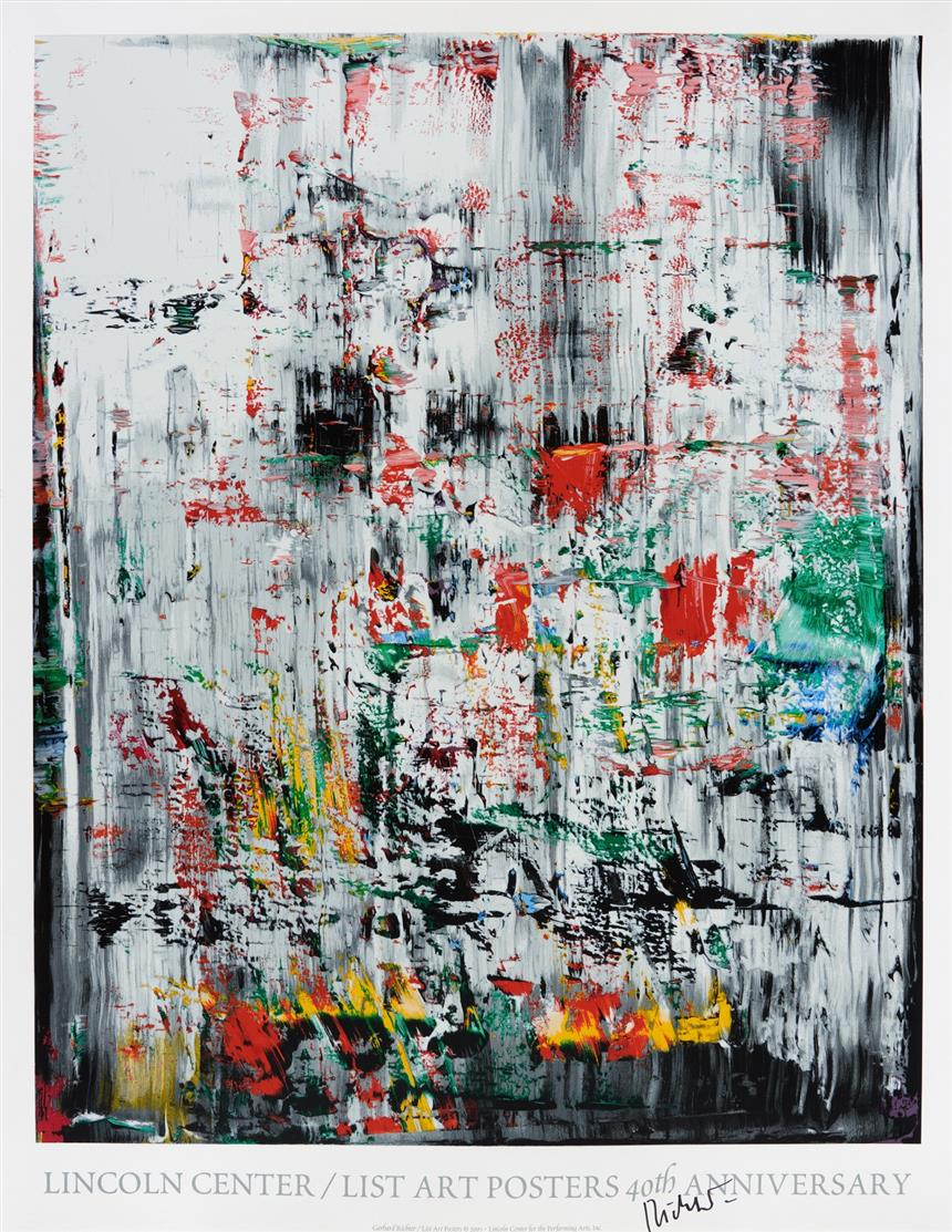 Gerhard Richter. Lincoln Center / List Art Posters (ICE 2). 2003. Plakat. Farbsiebdruck. Signiert. Vgl. B.123.