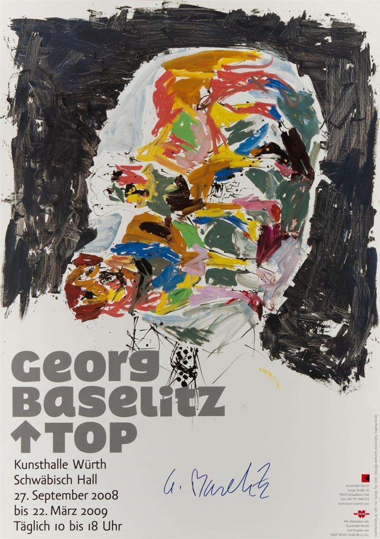 Georg Baselitz. Top, 2008/09 / Die Afrika-Sammlung, 2003. 2 Plakate. Farboffsets. Je signiert.