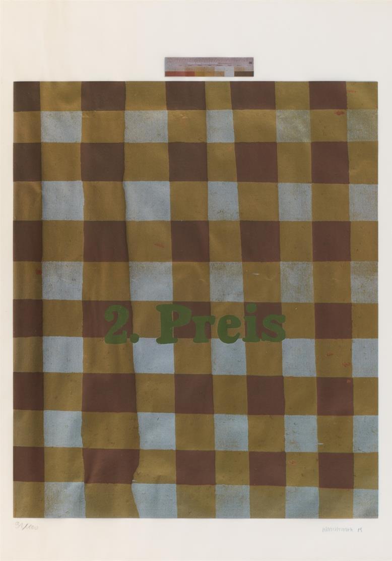 Martin Kippenberger. 2. Preis. 1989. Farbserigraphie. Signiert. Ex. 91/100.