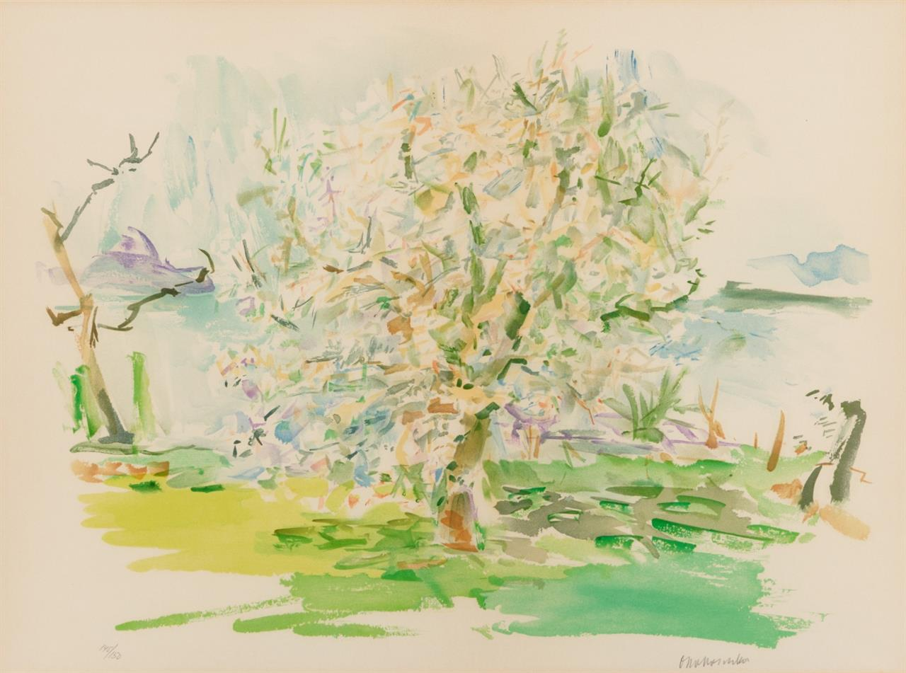 Oskar Kokoschka. Blühender Apfelbaum. 1959 (1974). Farblithographie. Signiert. Ex. 145/150. Wingler/Welz 514.